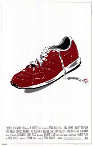 man-with-one-red-shoe-poster