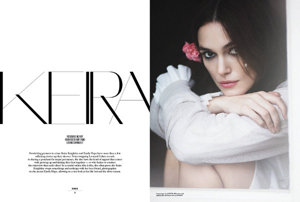 Keira Knightley poses with Hope for Rika