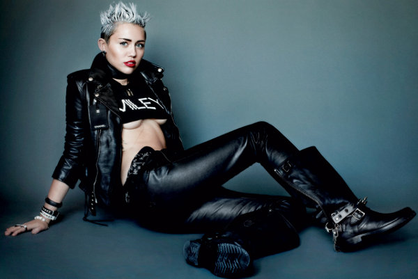 The fashionable Miley Cyrus for V Magazine