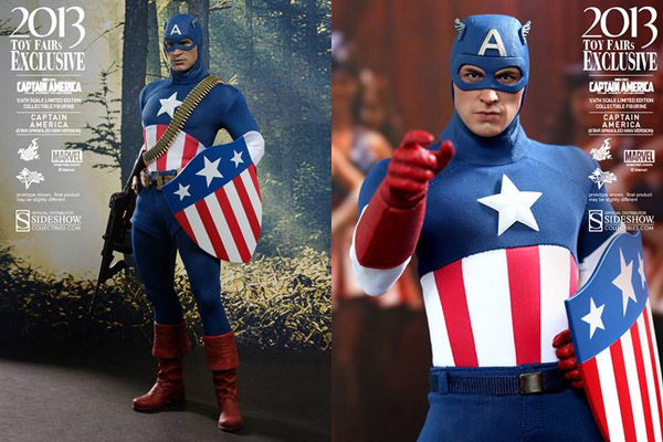 Star Spangled Captain America Sixth Scale Figure