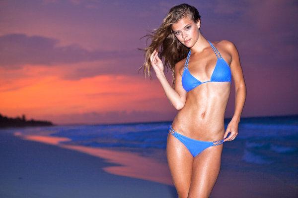 Nina Agdal Resorts to looking stunning in swimwear