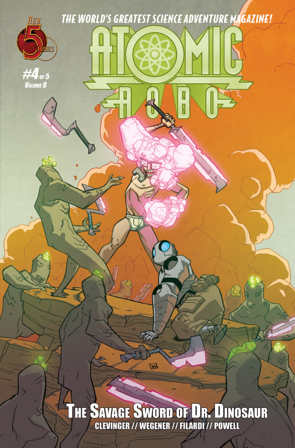 Atomic Robo and The Savage Sword of Dr. Dinosaur #4