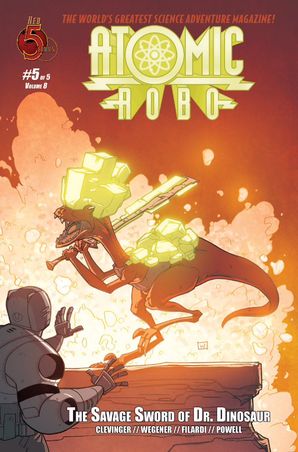 Atomic Robo and The Savage Sword of Dr. Dinosaur #5