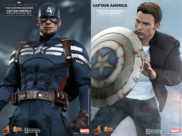 Captain America and Steve Rogers Sixth Scale Figures