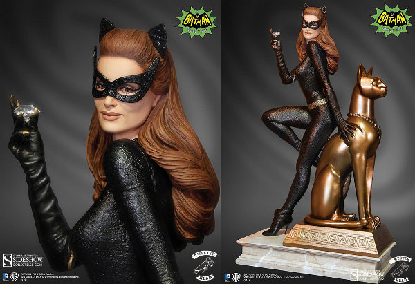 Julie Newmar Catwoman Maquette Diorama
