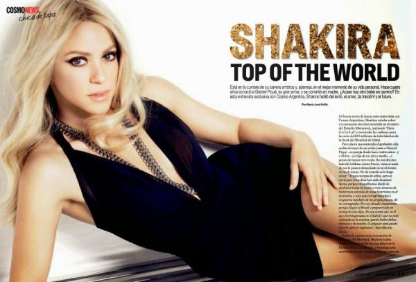 Shakira - Cosmopolitan Argentina (August 2014)