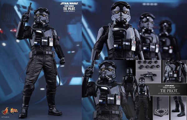 First Order TIE Pilot Sixth Scale Figure