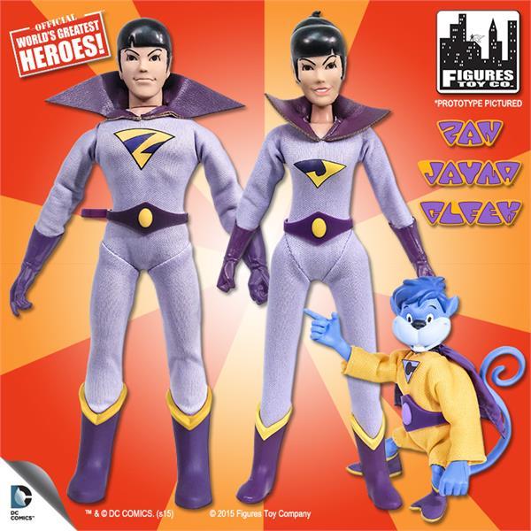 Wonder Twins & Gleek Super Friends Action Figures