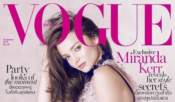 Miranda Kerr - Vogue Thailand (December 2015)