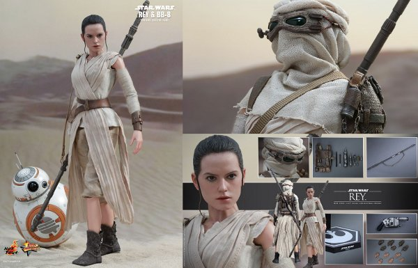 Rey and BB-8 Sixth Scale Figures