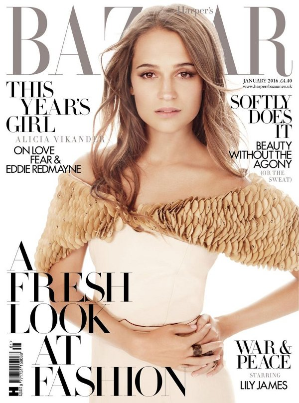Alicia Vikander - Harper's Bazaar UK (January 2016)