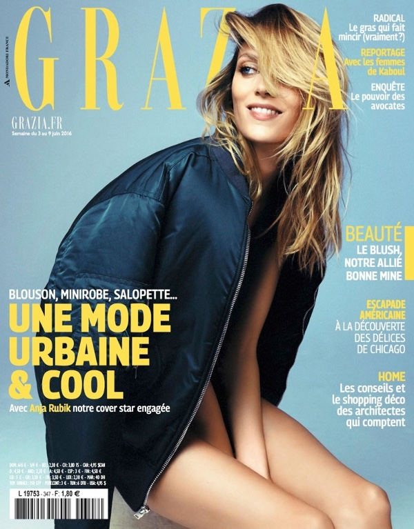 Anja Rubik - Grazia France (June 2015)