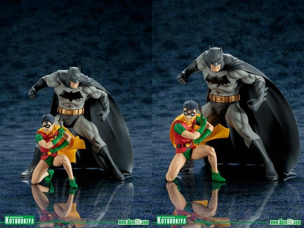 Batman and Robin Two-Pack ARTFX+ Statue