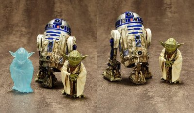 Yoda & R2-D2 Dagobah Two-Pack ARTFX+