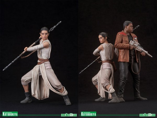 Rey and Finn ARTFX+ Statues