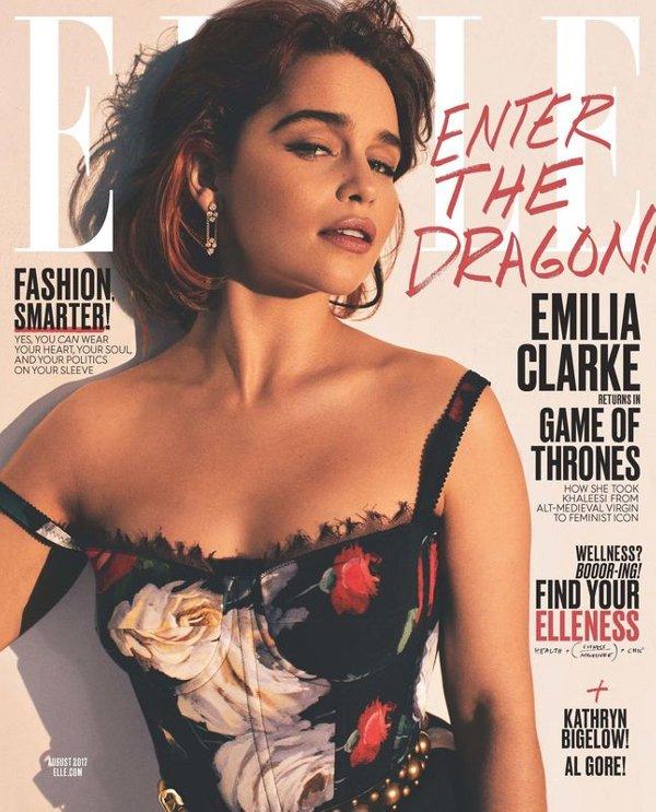 Emilia Clarke - Elle (August 2017)