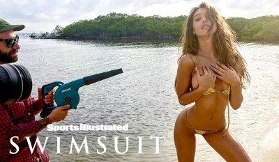 Behind-the-Scenes of Alexis Ren's SI Swimsuit Shoot