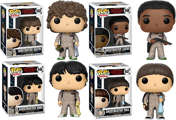Stranger Things Ghostbusters Pop! Vinyls