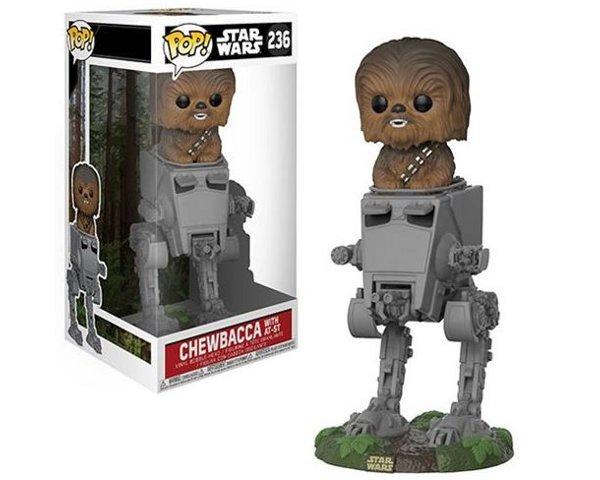 Star Wars Chewbacca in AT-ST Deluxe Pop! Vinyl