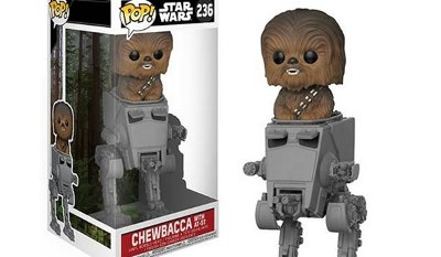 Star Wars Chewbacca in AT-ST Deluxe Pop! Vinyl