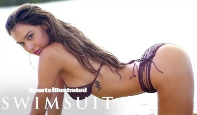 Alexis Ren Dancing on the Beach (Sports Illustrated Swimsuit)