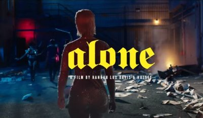 Halsey – Alone music video