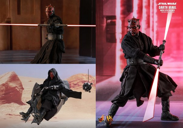 Darth Maul Sixth Scale Figure with Sith Speeder